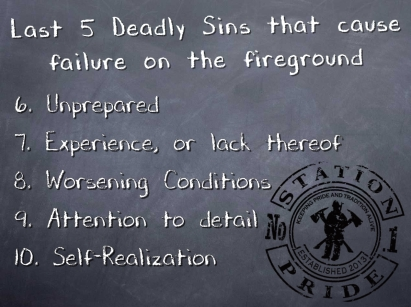 second 5 deadly sins