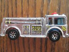 silver fire truck